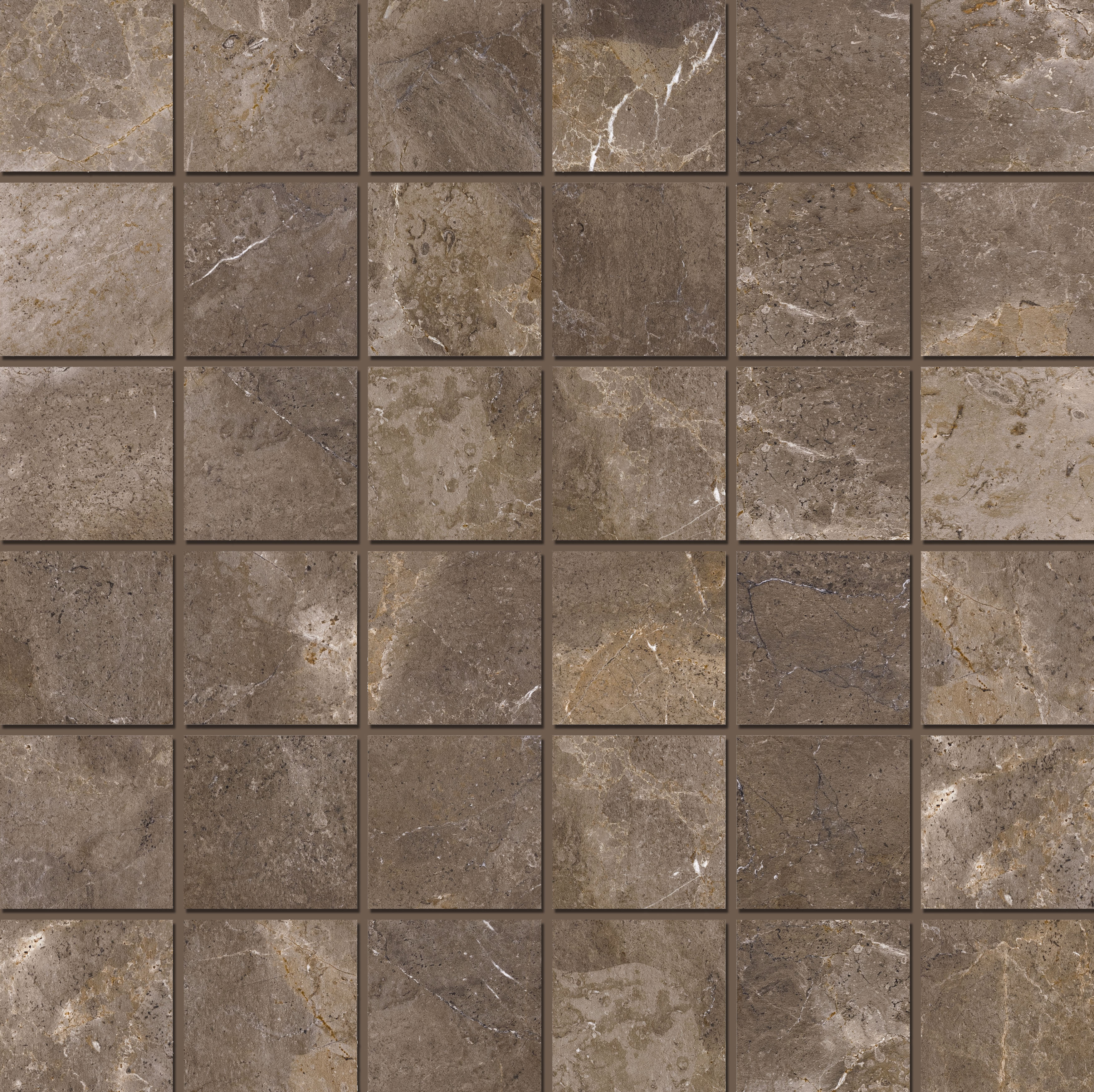 Mosaic 4,7x4,7 Imperial Brown