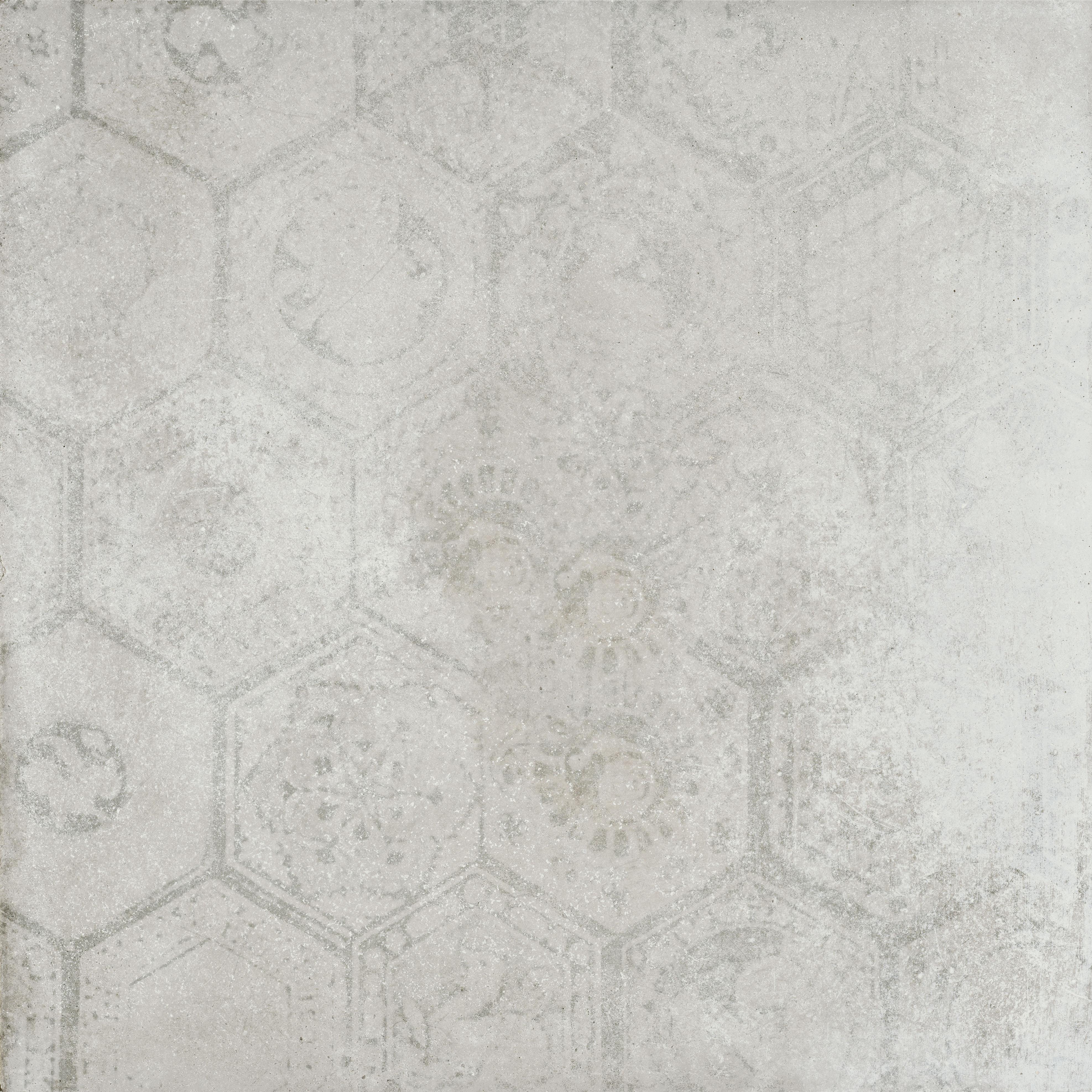 Hexagon Soft Silver